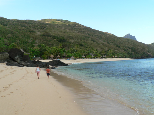 This is our beach!! Can you see our resort in the distance?